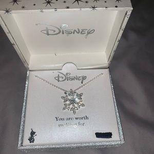 Disney frozen snowflake necklace